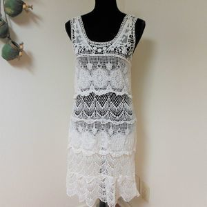 American Rag Cie White Lace Dress Size S